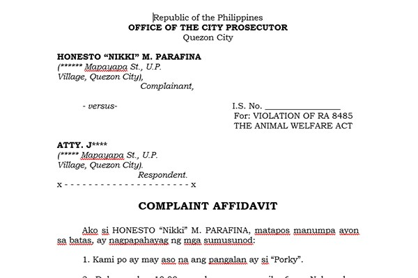 Prosecution | Philippine Animal Welfare Society